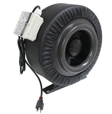 "8"" 720CFM Inline Duct Booster Fan Air Cool Hydroponic Grow Blower Exhaust Vent"