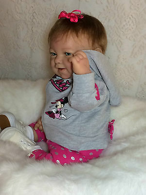 Reborn Berenguer Happy Face Minnie Mouse Outfit Baby Girl Nlm Rare Must See