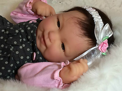 Reborn Berenguer Happy Face Baby Girl Nlm Rare Must See Adorable Infant