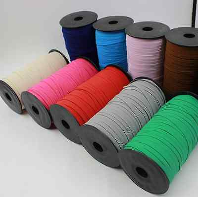 Knit Elastic Stretch Flat Rubber band Cord clothing Sewing Braided Rope 6mm