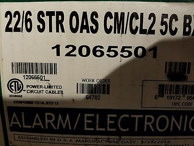 Honeywell Genesis Cable 1206 22/6C Stranded Shielded Media/Comm Wire White/100ft