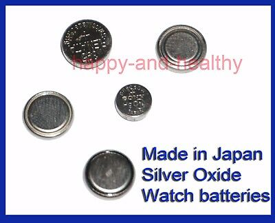 Made in Japan Silver Oxide watch batteries all sizes FREE POST MX