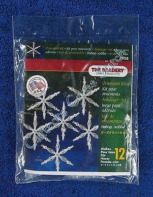 "Christmas Bead Kit Ice Crystals Ornament Makes 12 3"" 7.6 cm Quick & Easy"