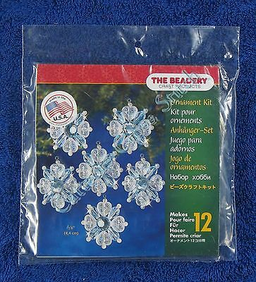 "Christmas Bead Kit Filagree Snowflake Ornaments Makes 12 1.75"" / 44mm Quick Easy"