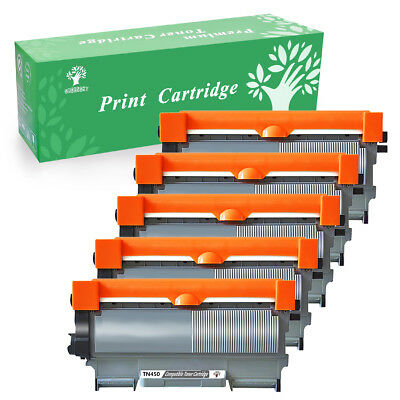 5 Pack TN450 Toner Cartridge For Brother HL-2130 HL-2230 MFC-7360N DCP-7065DN