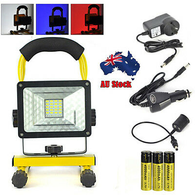 Outdoor Camping Rechargeable 30W 24LED Flood Light Portable Spot Work Lamp 18650