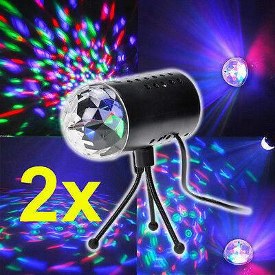 2x RGB LED Laser Projector Party Disco Stage Crystal Lighting Fashion Effect AU