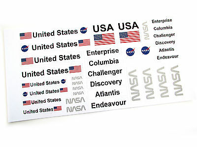 SPACE SHUTTLE STICKERS for Lego 10231 10213 60081 30315 3367 customs builds ,etc