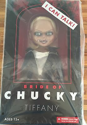 """Mezco Bride Of Chucky Talking Tiffany 15"""" Scale Doll Figure Childs Play Instock"""