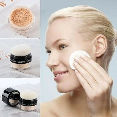 Women Makeup Smooth Face Skin Loose Powder Mineral Foundation Concealer Cosmetic