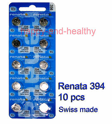 Authentic Renata SR936SW 394 Silver Oxide Battery x10 pcs SWISS made FREE post