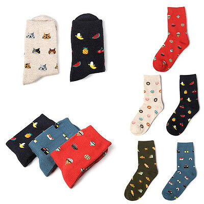 Fashion Women Men Cute Socks Cartoon Cotton Socks Food Fruit Ankle Sock 1 Pair