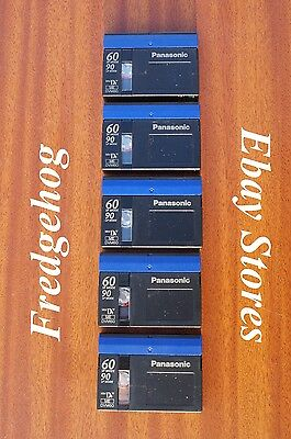 PACK of 5 x PANASONIC DVM60 MINI DV DIGITAL VIDEO CAMCORDER TAPES / CASSETTES