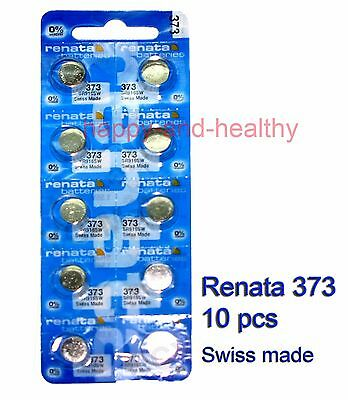 New Renata SR916SW 373 Silver Oxide button Battery 10 pcs Swiss Made FREE track
