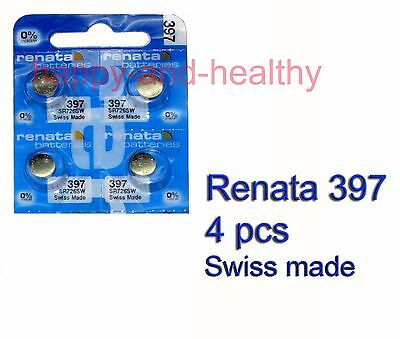 Renata SR726SW 397 Silver Oxide button Battery x 4 pcs Swiss Made FREE Post
