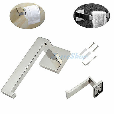 Toilet Roll Paper Holder - Bathroom Accessories - 304 Stainless Steel Square