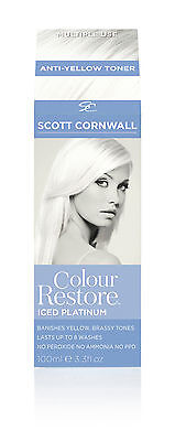 Blonde White Toner - Ice Platinum - Removes Unwanted Yellow Tones - Multiple Use