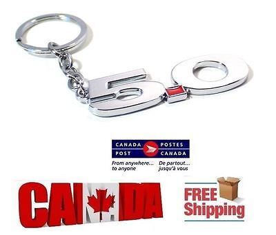 New Silver Chrome 5.0 Number for Mustang GT Shelby 500 Key Ring Key Chain