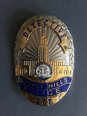 Beverly Hills Police Department Police Detective 277 shield - Full Size