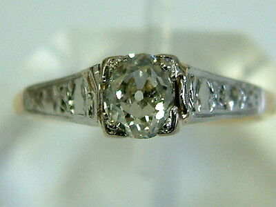 Vintage 18Ct Gold Oval Cushion-Cut Diamond Solitaire Ladies Ring - 0.50 Carat