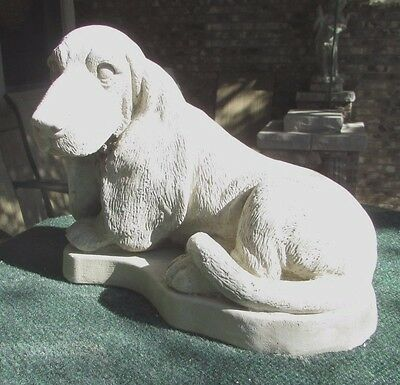 Concrete Basset Hound Statue Or Use As A Monument