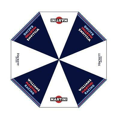 New! 2016 Williams Martini Racing Large Umbrella with Team Colours Hackett Logo
