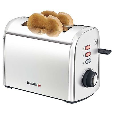 Breville Stainless Steel 2-Slice Kitchen Toaster with Defrost & Re-Heat Function