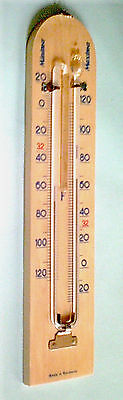 Antique Vintage Minima Maxima Thermometer 25 cm, Original 1950s, Made in Germany