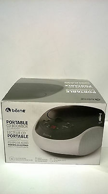 Borne Prcd400a-BK Portable Cd Boombox with Am/fm Radio, aux-in