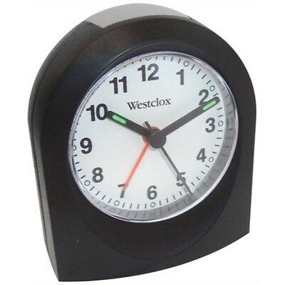 Quartz Alarm Clock Black Case
