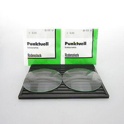 2x Rodenstock Punktuell Ø 62mm U | sph. +3,25 | cyl. - | spectacle lens / Lin