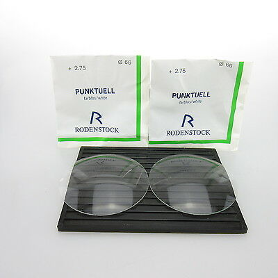 2x Rodenstock Punktuell Ø 66mm  | sph. +2,75 | cyl. - | spectacle lens