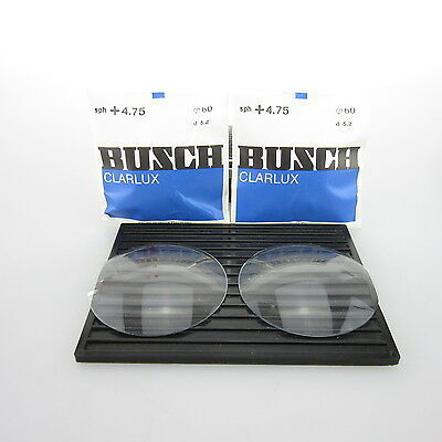 2x Busch Clarlux Ø 60mm  | sph. +4,75 | cyl. - | spectacle lens / Linsen