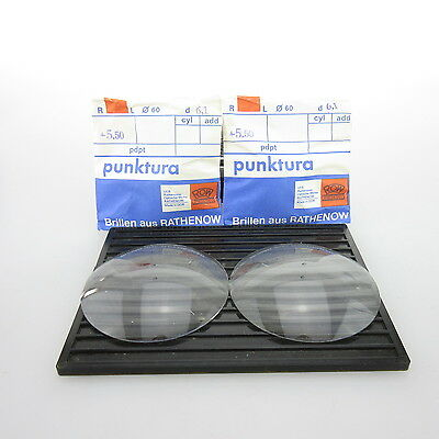2x ROW punktura Ø 60mm  | sph. +5,50 | cyl. - | spectacle lens / Eyeglass