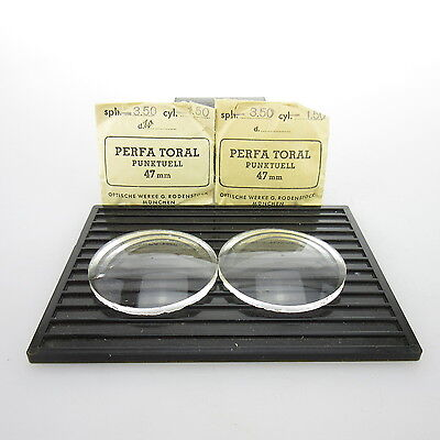 2x Perfa Toral Ø 47mm  | sph. -3,50 | cyl. -1,50 | spectacle lens / Linsen