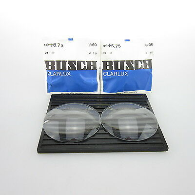 2x Busch Clarlux Ø 60mm  | sph. +6,75 | cyl. - | spectacle lens / Linsen