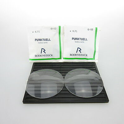 2x Rodenstock Punktuell Ø 62mm  | sph. +4,75 | cyl. - | spectacle lens