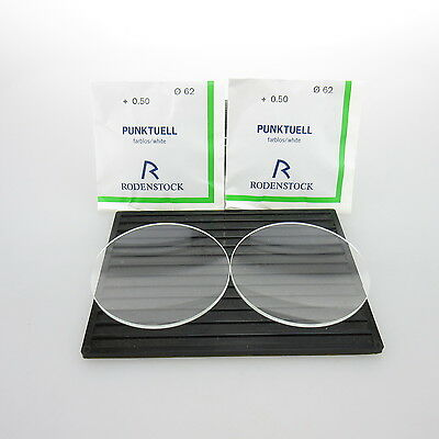 2x Rodenstock Punktuell Ø 62mm  | sph. +0,50 | cyl. - |spectacle lens / Eyeglass
