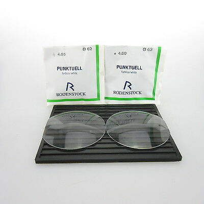 2x Rodenstock Punktuell Ø 62mm  | sph. +4,00 | cyl. - | spectacle lens