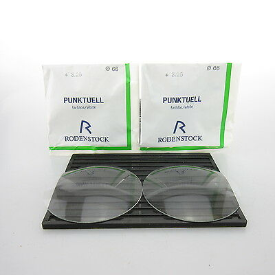 2x Rodenstock Punktuell Ø 66mm  | sph. +3,25 | cyl. - | spectacle lens / Lins