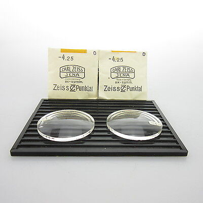 2x Carl Zeiss Ø 45mm  | sph. -4,25 | cyl. - | spectacle lens / Linsen