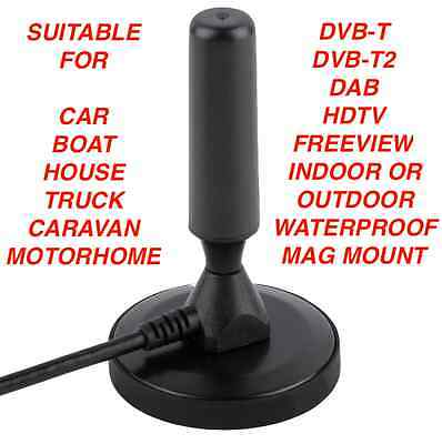 Best Caravan Portable TV Antenna Indoor Outdoor Digital HD Freeview Aerial Ariel