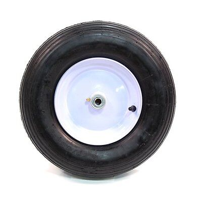 Arnold Wheelbarrow Wheel with Ribbed Tread - 480/400-Inch x 8-Inch