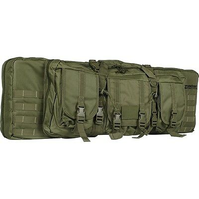 """New Valken Tactical 36"""" Double Carbine Rifle Gun Carry Case Bag - Olive Green"""