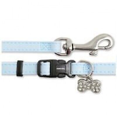 Ancol Deluxe Puppy & Small Dog Collar and Lead Set Fully Adjustable Baby Blue