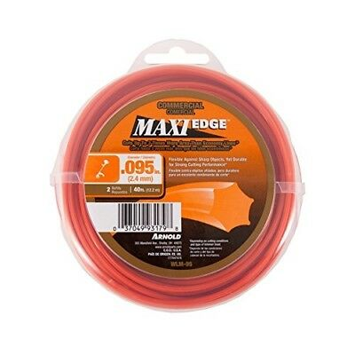"""Arnold Maxi Edge Commercial Trimmer Line 40 ft - 0.095"""" 6-Point Star"""