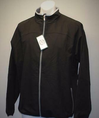 New Mens LARGE long sleeve golf jacket Grandfather Golf & Country Club black