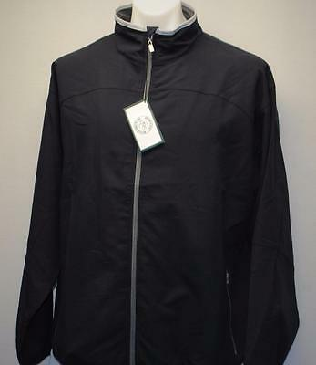 New Mens LARGE long sleeve golf jacket Grandfather Golf & Country Club Navy
