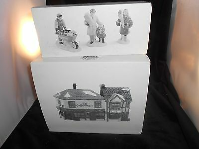 Dept. 56 Curiousity Shop & Say it with Flowers Dickens Village House # 59056 Lot