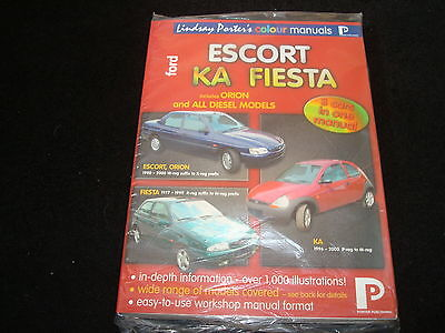 FORD ESCORT, KA, FIESTA 3in1 COLORE PORTER PUBLISHING MANUALE OFFICINA - NUOVO